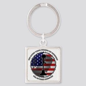 The Nation Which Forgets Its Defen Square Keychain