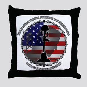 The Nation Which Forgets Its Defender Throw Pillow