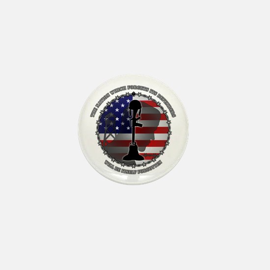 The Nation Which Forgets Its Defenders Mini Button