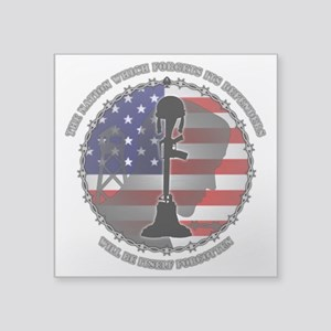 """The Nation Which Forgets It Square Sticker 3"""" x 3"""""""