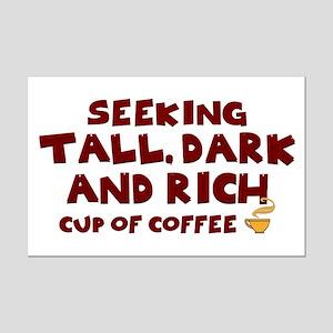 Seeking Coffee Mini Poster Print