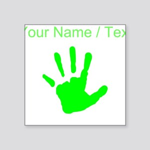 Custom Neon Green Handprint Sticker
