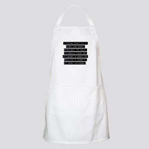 I Think That If I Died Apron