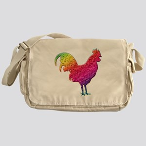 Rainbow rooster Messenger Bag