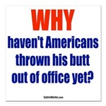 "Why? Square Car Magnet 3"" X 3"""