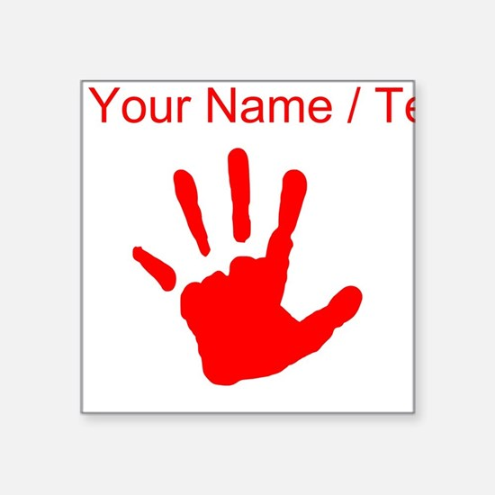 Custom Red Handprint Sticker