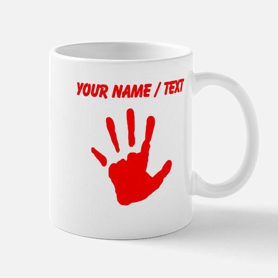 Custom Red Handprint Mugs