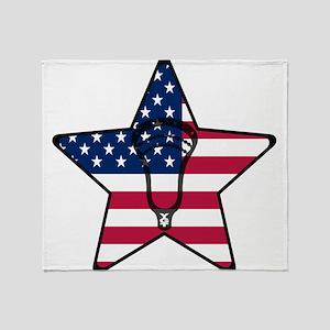 Lacrosse_Star_Head_Full Throw Blanket