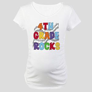 Bright Colors 4th Grade Maternity T-Shirt
