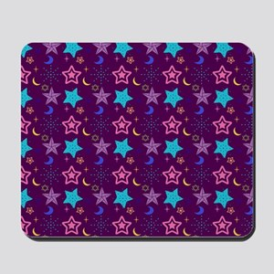Midnight Stars Pattern Mousepad