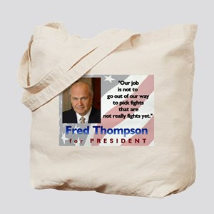 Fred Thompson War & Peace Tote Bag
