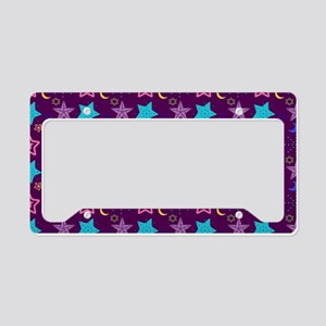 Midnight Stars Pattern License Plate Holder
