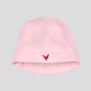 Rainbow rooster baby hat