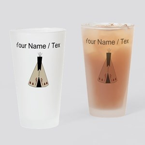 Custom Native American Teepee Drinking Glass