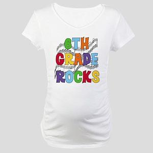 Bright Colors 6th Grade Maternity T-Shirt