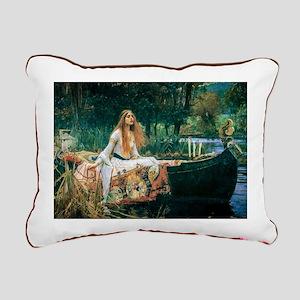 Waterhouse: Lady of Shal Rectangular Canvas Pillow