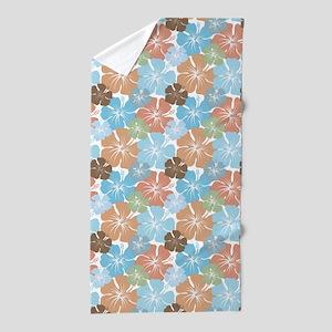 Hawaiian Hibiscus Floral Beach Towel
