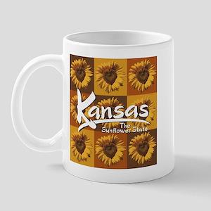 Kansas Sunflower Squares Mug