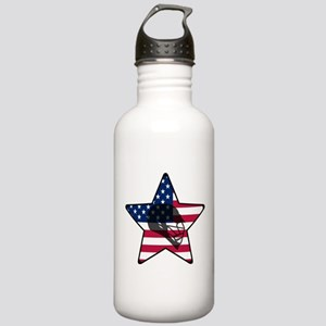 Lacrosse Flag Star Hel Stainless Water Bottle 1.0L