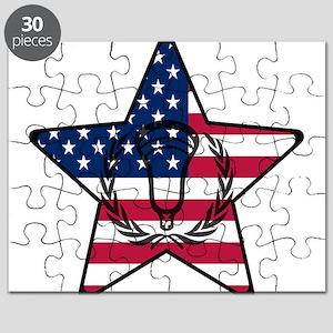 Lacrosse Flag Star VW Puzzle