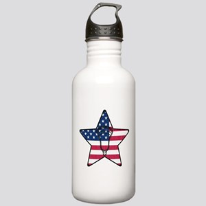 Lacrosse Flag Star Hea Stainless Water Bottle 1.0L