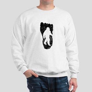 Bigfoot In Footprint Sweatshirt