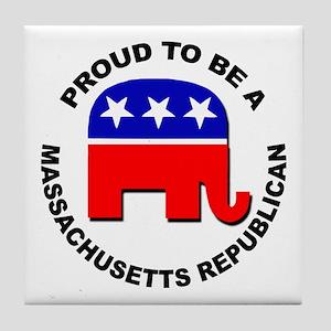 Proud Massachusetts Republican Tile Coaster