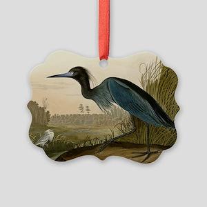 Audubon Blue Crane Heron from Birds of America Orn