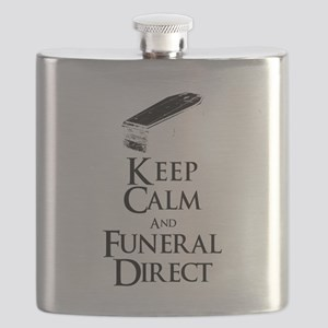 Keep Calm and Funeral Direct Flask
