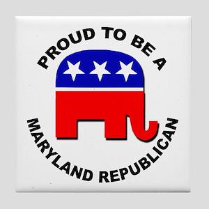 Proud Maryland Republican Tile Coaster