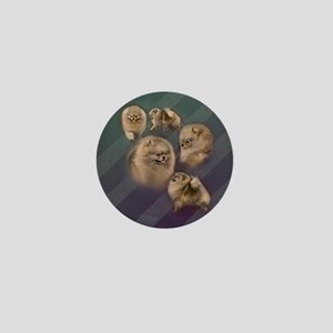 Toy dogs Pomeranian Mini Button