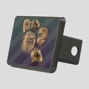 Toy dogs Pomeranian Rectangular Hitch Cover