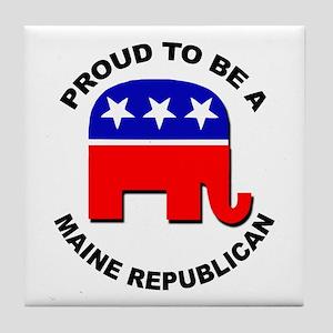 Proud Maine Republican Tile Coaster