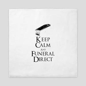 Keep Calm and Funeral Direct Queen Duvet