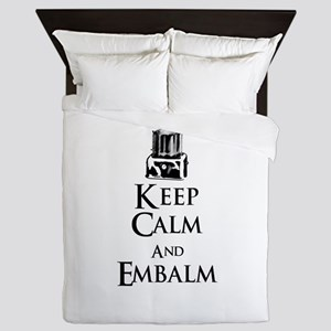 Keep Calm and Embalm Light Queen Duvet