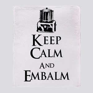 Keep Calm and Embalm Light Throw Blanket