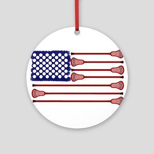 Lacrosse Americas Game Ornament (Round)