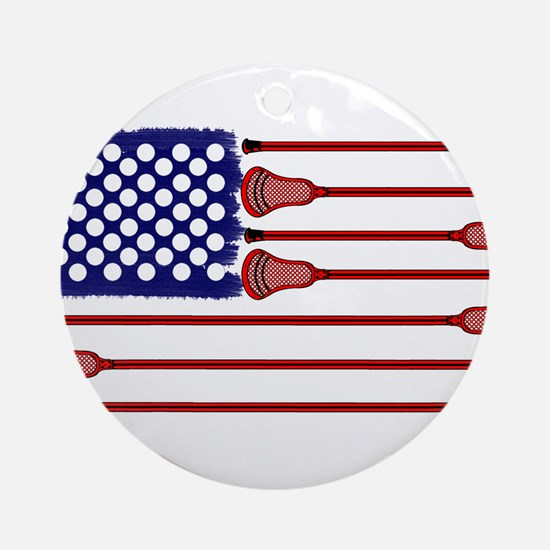 Lacrosse Americas Game Ornament (Round)
