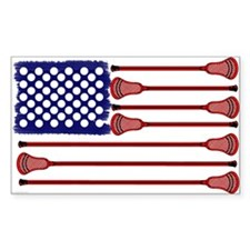 Lacrosse Americas Game Sticker