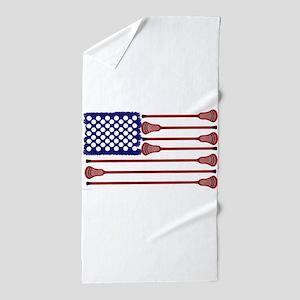Lacrosse Americas Game Beach Towel