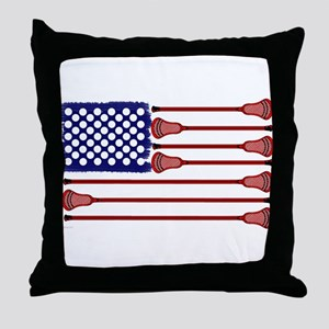 Lacrosse Americas Game Throw Pillow