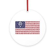 Lacrosse Defense Flag Ornament (Round)