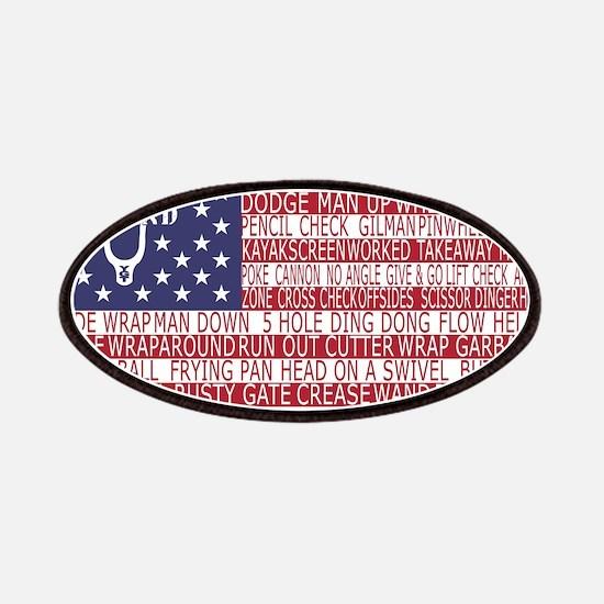 Lacrosse Defense Flag Patches