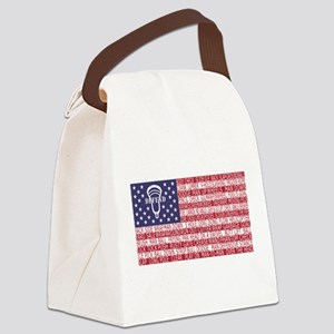 Lacrosse Defense Flag Canvas Lunch Bag
