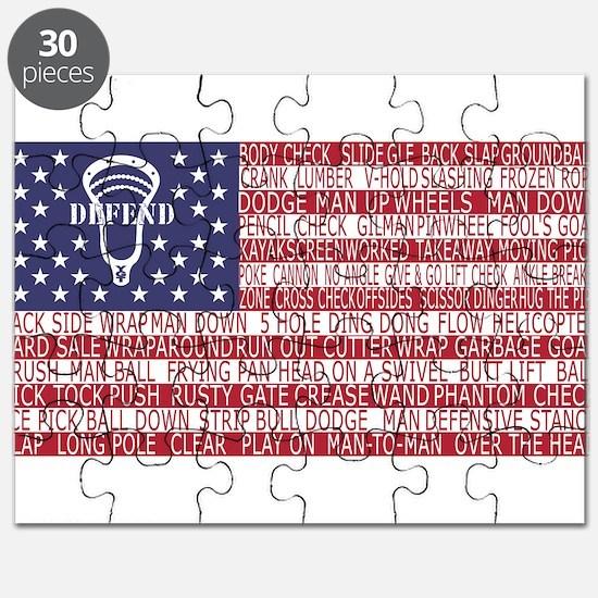 Lacrosse Defense Flag Puzzle