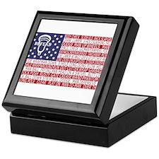 Lacrosse Defense Flag Keepsake Box