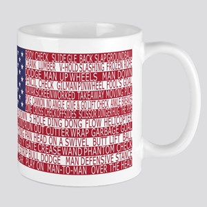 Lacrosse Defense Flag Mugs