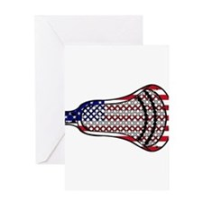 Lacrosse Flag Head 600 Greeting Cards