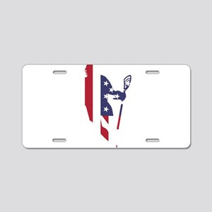 Lacrosse IRollMericaVert. Aluminum License Plate