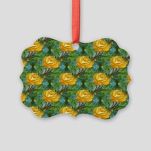 Needlework Rose Picture Ornament